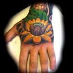 Japanese style flower tattoos
