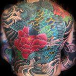 Koi carp back tattoo