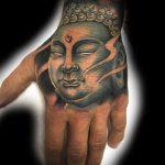 Buddha hand tattoo