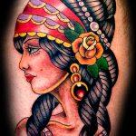 Vintage style lady tattoo