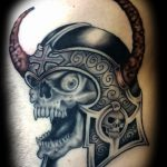 Celtic skull tattoo