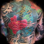 Koi carp back tattoo