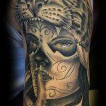 Dia de los Muertos lady tattoo