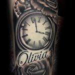 Antique watch tattoo