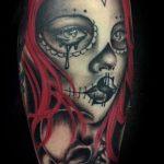 Dia de los Muertos girl tattoo