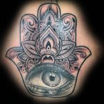 Hamsa / Hand of Fatima tattoo