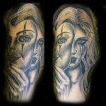 Masked woman tattoo