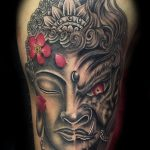 Buddha/demon tattoo