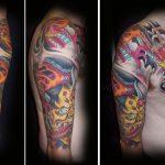Hanya and red dragon tattoo