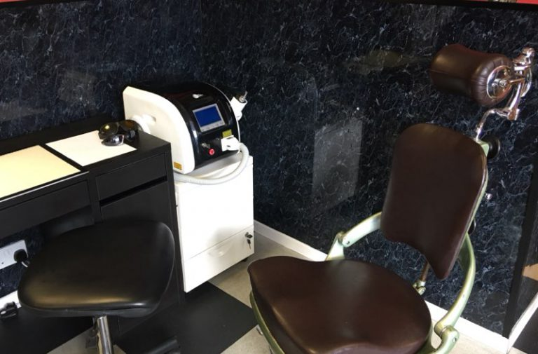 Our laser tattoo removal area