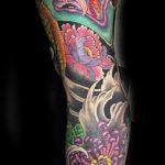 Japanese leg tattoo