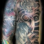 Japanese rib and chest tattoo