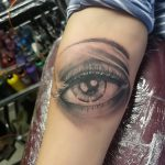 Photo realistic eye tattoo